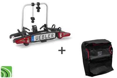 Uebler i21 fietsendrager | 60º kantelbaar | Gratis opbergtas | Trekhaak montage