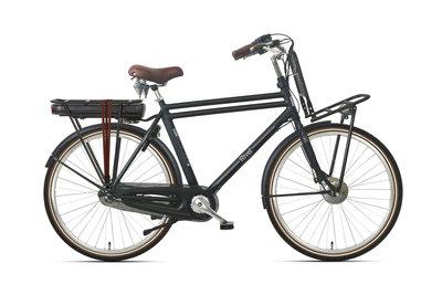 Rivel Riviera - elektrische fiets - Heren - Zwart met bruine details