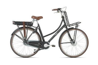 Rivel Riviera - elektrische fiets - Dames - Zwart met bruine details